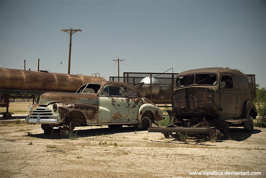 Abandoned Cars, near Tucumcari, New Mexico