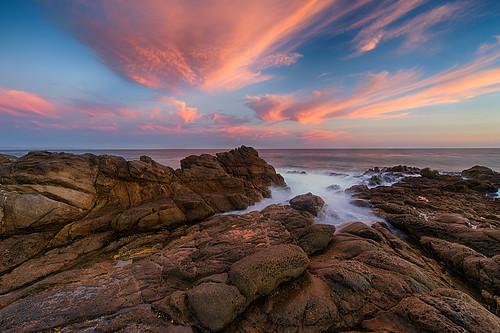 無料写真素材, 自然風景, ビーチ・海岸, 朝焼け・夕焼け, 風景  アメリカ合衆国