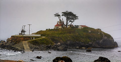 The Lord of the Tides Did Not Smile, Battery Point Lighthouse, Crescent City CA (C61_2432-2434-tc-cus-LR-NS-PS)