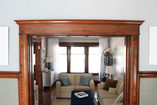 Why i 39 ll never paint our wood trim decor adventures for Modern homes with wood trim