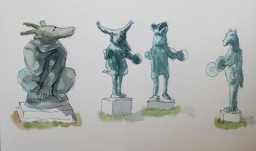 Estatuas Parque del Oeste, Málaga