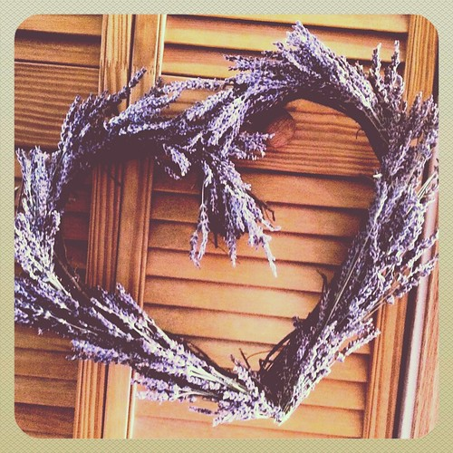 bright purple lavender wreath by Heather Says