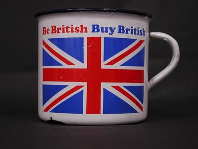 Union Jack tin mug