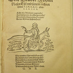 Scatalogical woodcut illustration accompanying a poem characterizing the Roman Catholic polemicist Johannes Nas as an ass. Used by Nicolaus Henricus of Oberursel