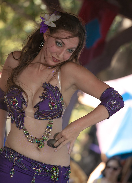 sexy belly dancer Samantha doing her solo performance at the Minnesota Renaissance Festival