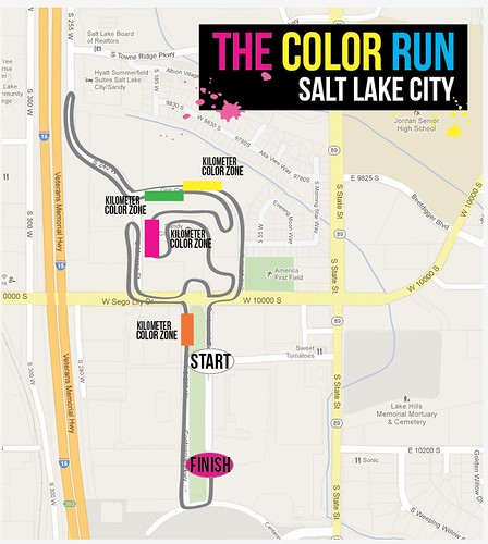 The color run map