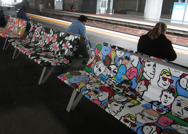 IKEA seat covers, Southern Cross Station