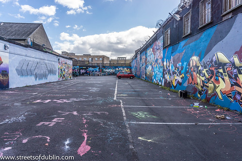 Street Art In Tivoli Car Park (Francis Street In Dublin) by infomatique