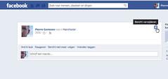 Facebook Kaart verwijderen