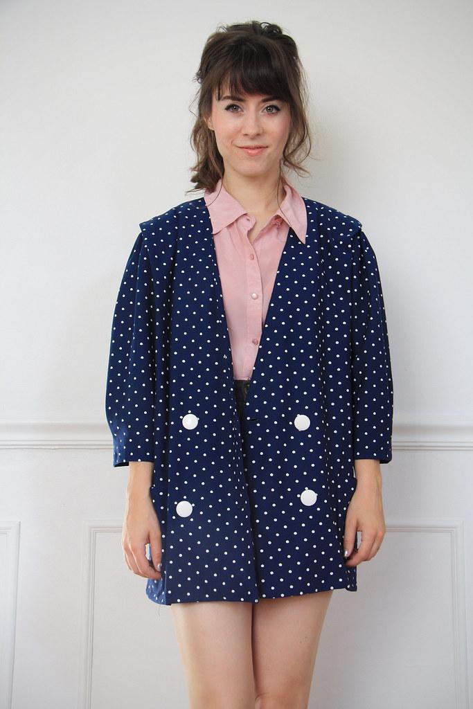 1980s polka dot blazer