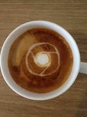 Today's latte, Google Chrome.