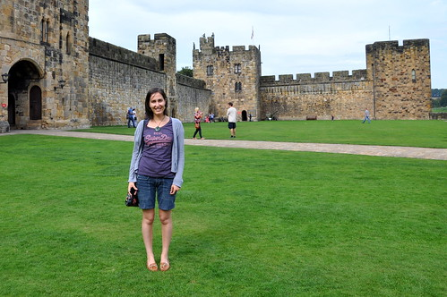 Flying lessons at Alnwick Castle