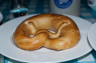 Yummy salted Bavarian pretzel