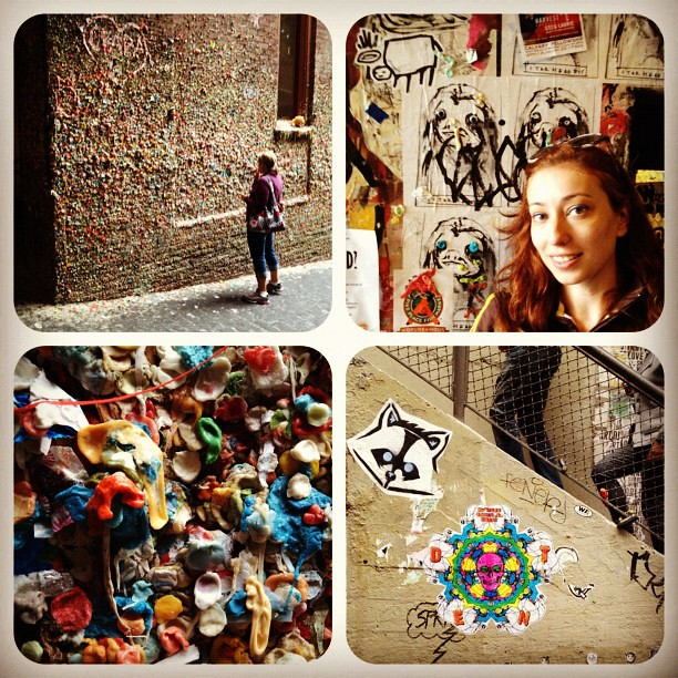 "Food becomes art at Seattle's ""Gum Wall"""