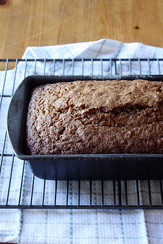 quick bread, post-oven.