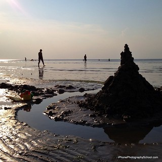 صورة Lielupes pludmale. sea beach silhouette latvia sandcastle