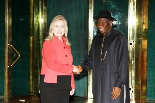 Secretary Clinton Meets With Nigerian President Goodluck Jonathan