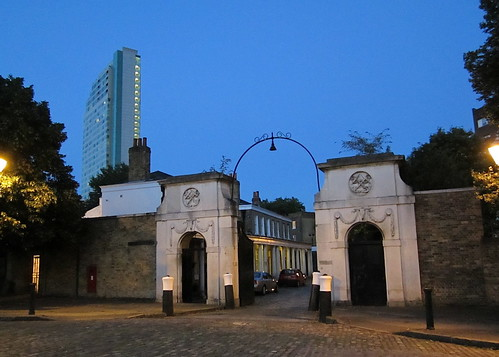 Pepys Estate: the Georgian entrance, and Aragon Tower
