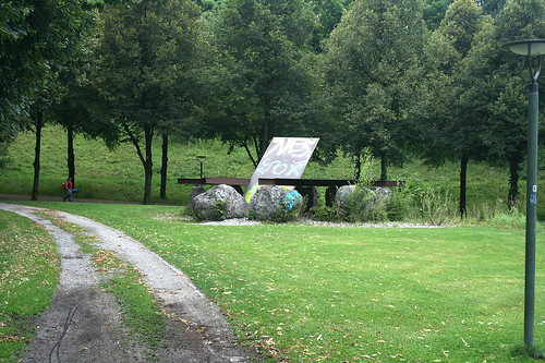 """Skulptur """"Terasse"""" von Jean Clareboudt - Westpark"""
