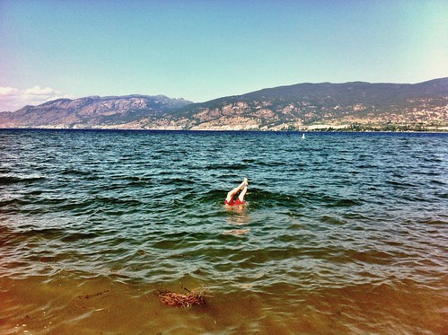 Waterlogged handstands are the new planking. #graham #okanaganlake