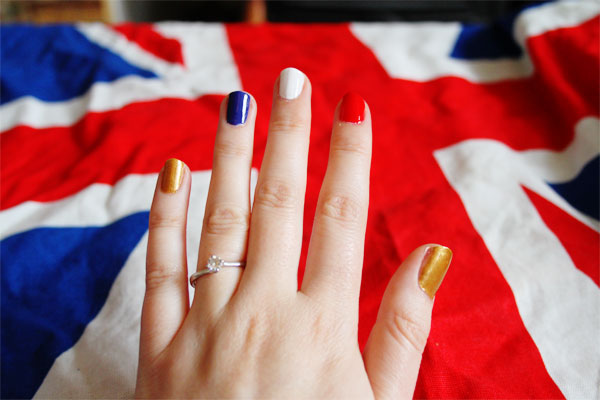 union jack flag nails tutorial