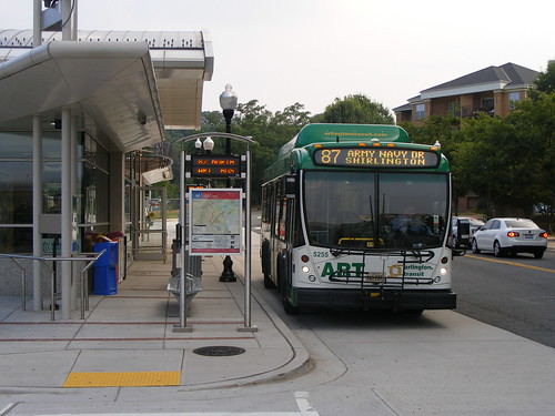 Bus at Shirlington Station, Arlington