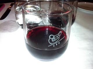 Detalle de copa de vino