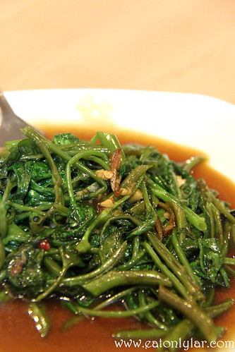 Stir-Fried Kangkong with Belacan, Basil Thai Nudle Bar
