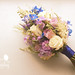 summer bouquet in blue and purple