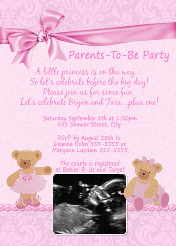 twinkle toes ballerina bear baby shower invitations flickr photo