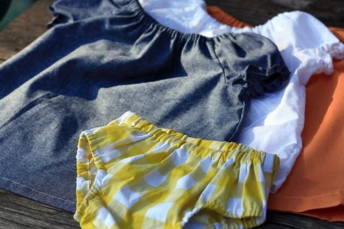 dresses + yellow bottom