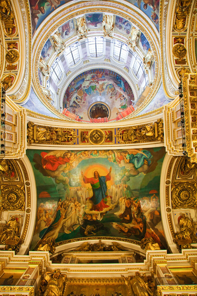 St.Isaac`s Cathedral ceiling drawings