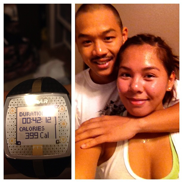 TapoutXT day 24: Muay Thai. Damn near burned 400 calories with my boo @fresh2death209