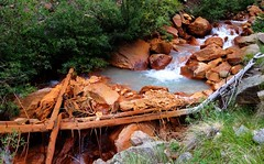 A red creek in Colorado