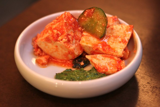 Calabrian Chili Tofu with Pickles at State Bird Provisions
