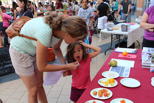 After judging, the public got the chance to sample the best of DC's homegrown tomatoes