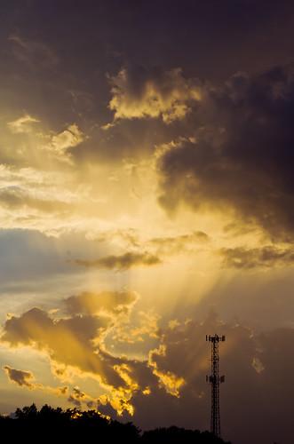 sunset weather clouds sunrise georgia albany storms sunrisesunset thunderstorms carolineceverittgaphotoprorain carolineceverittalbany