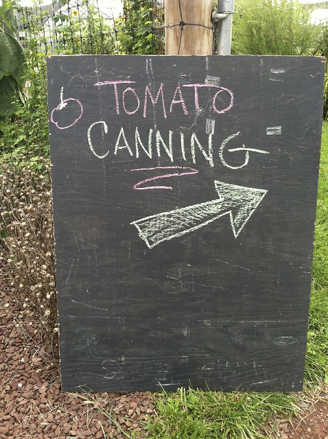 tomato canning workshop
