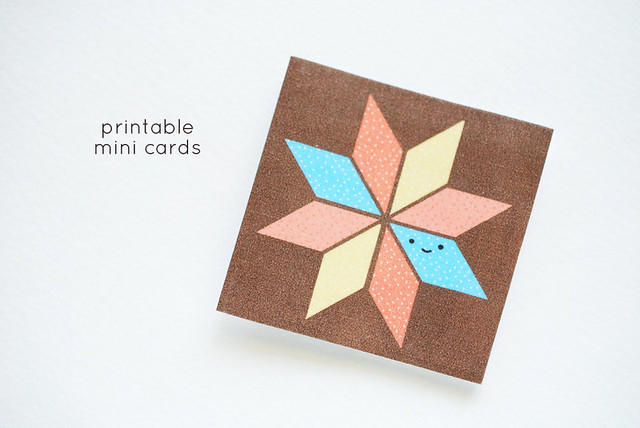 Quilt Block Mini Cards