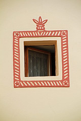 'South Bohemian folk Baroque' windows