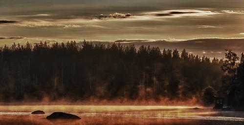 sunrise suomi finland landscape landscapes sunrises steamer mattiollikainen mazahito