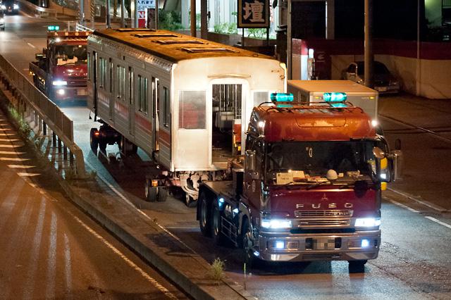 東急電鉄9000系9015F サハ9715・サハ9815 廃車解体陸送