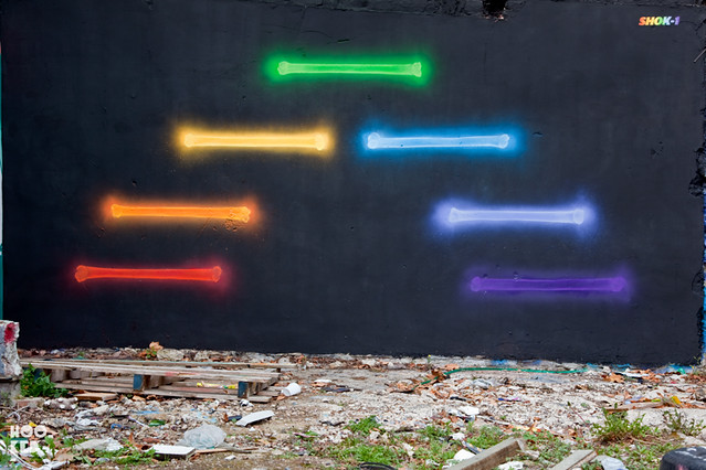SHOK 1's X-Rainbow Mural IN London. Photo © Hookedblog