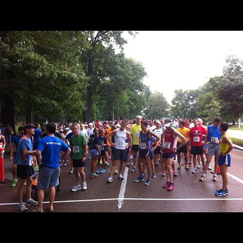 Start line of the Forrest Spence 5k