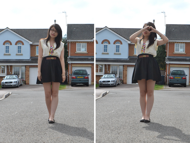 daisybutter - UK Style and Fashion Blog: what i wore, ootd, wiwt, lookbook.nu, sacoor brothers, dolce and gabbana fruit print