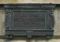 Photo of William Beckford bronze plaque
