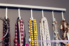 DIY necklace display with ikea goods