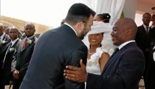Israeli businessman Dan Gertler greets Democratic Republic of Congo President Joseph Kabila at his wedding. Gertler has been subjected to allegations of shady business deals in DRC. by Pan-African News Wire File Photos