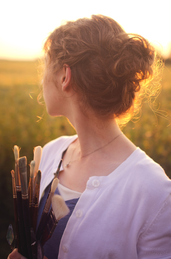 Artist at Sunset