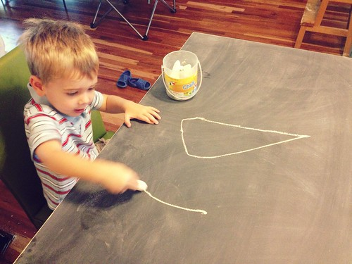 dining table: drawing on the table!